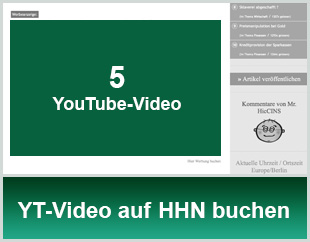 YouTube-Video auf HHN buchen